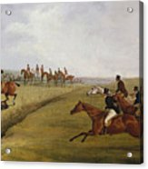 The Grand Leicestershire Steeplechase, March 12th, 1829 Acrylic Print