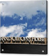 The Grand Ole Opry Nashville Tn Acrylic Print by Susanne Van Hulst