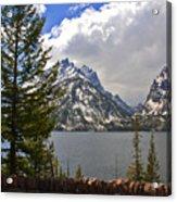 The Grand Tetons And The Lake Acrylic Print