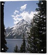 The Grand Tetons Lake Acrylic Print