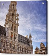 The Grandeur Of The Grand Place Brussels  Acrylic Print