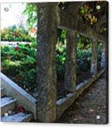 The Grape Arbor Path Acrylic Print