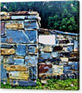 The Grateful Stone Wall Acrylic Print