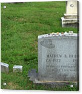 The Grave Of Mathew Brady -- Renowned Photographer Of The American Civil War Acrylic Print