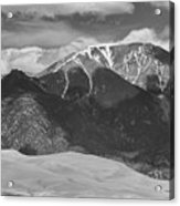The Great Colorado Sand Dunes  125 Black And White Acrylic Print