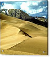 The Great Colorado Sand Dunes Color Print Acrylic Print