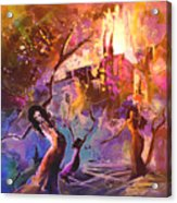 The Great Fire Of Woman Acrylic Print