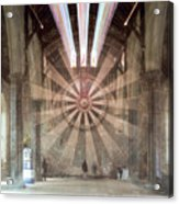 The Great Hall, Winchester Castle, Hampshire Zoom Burst Acrylic Print