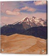 The Great Sand Dunes And Sangre De Cristo Mountains Acrylic Print