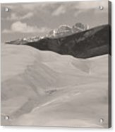 The Great Sand Dunes  Bw Sepia Acrylic Print