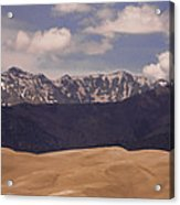 The Great Sand Dunes Panorama 1 Acrylic Print