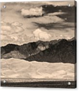 The Great Sand Dunes Panorama 2 Sepia Acrylic Print