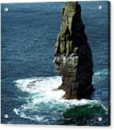 The Great Sea Stack Brananmore Cliffs Of Moher Ireland Acrylic Print