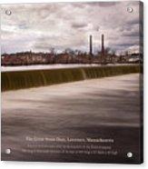 The Great Stone Dam Lawrence, Massachusetts Acrylic Print