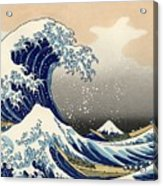 The Great Wave Off Kanagawa Acrylic Print