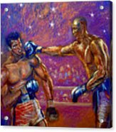 the Greatest  Muhammed Ali vs Jack Johnson Acrylic Print
