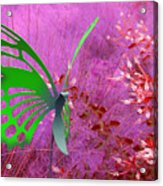 The Green Butterfly Acrylic Print