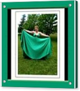 The Green Dress Acrylic Print