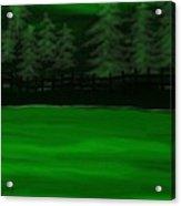 The Green Lake Acrylic Print