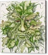 The Green Man Acrylic Print by Angelina Whittaker Cook