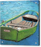 The Green Rowboat Acrylic Print