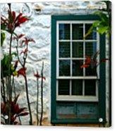 The Green Window Acrylic Print