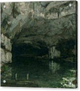The Grotto Of The Loue Acrylic Print by Gustave Courbet