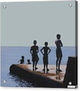 The Groyne - Stand And Stare Acrylic Print