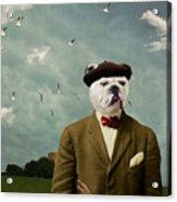 The Grumpy Man Acrylic Print by Martine Roch