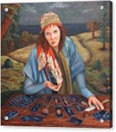 The Gypsy Fortune Teller Acrylic Print by Enzie Shahmiri