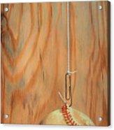 The Hanging Baseball Acrylic Print
