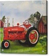 The Hansen Tractor Acrylic Print by Kendra Sorum