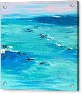The Happy Beach Acrylic Print