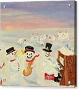 The Happy Snowman Band Acrylic Print