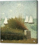 The Harbor At Grandcamp Acrylic Print by Georges Seurat