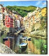 The Harbor At Rio Maggiore Acrylic Print