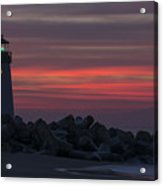 The Harbor Light At Dawn Acrylic Print
