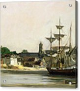 The Harbour At Honfleur Acrylic Print by Karl Pierre Daubigny