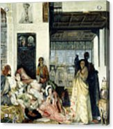 The Harem Acrylic Print by John Frederick Lewis