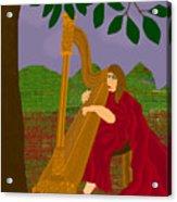 The Harpist Acrylic Print