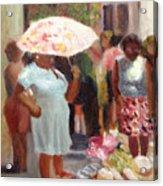 The Hat Lady Acrylic Print