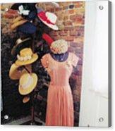 The Hat Rack Acrylic Print