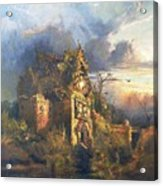 The Haunted House Acrylic Print by Thomas Moran
