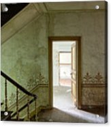 The Haunted Staircase - Abandoned Building Acrylic Print