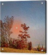 The Hazy Horizon. Acrylic Print