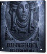 The Headstone Of Madame Leota Acrylic Print