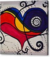 The Heart Don't Lie Acrylic Print