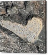 The Heart In Stone Acrylic Print