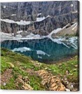 The Heart Of Many Glacier Acrylic Print