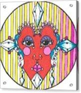 The Heart Queen Acrylic Print